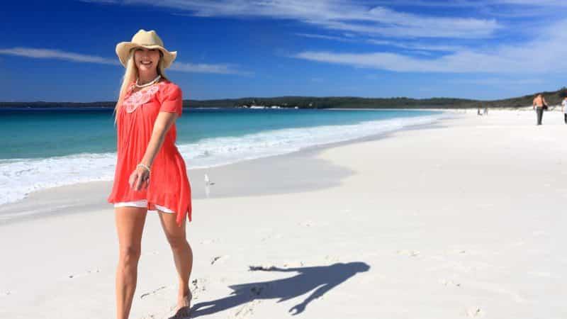 Hyams Beach in Australië