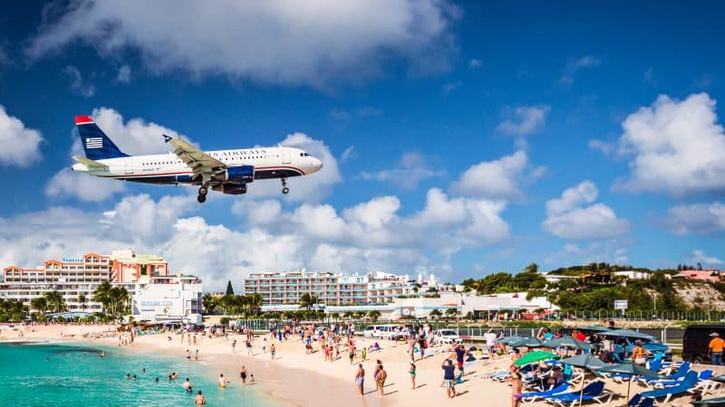 Maho Beach in Sint Maarten