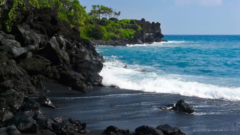 Punaluu Beach in Hawaii
